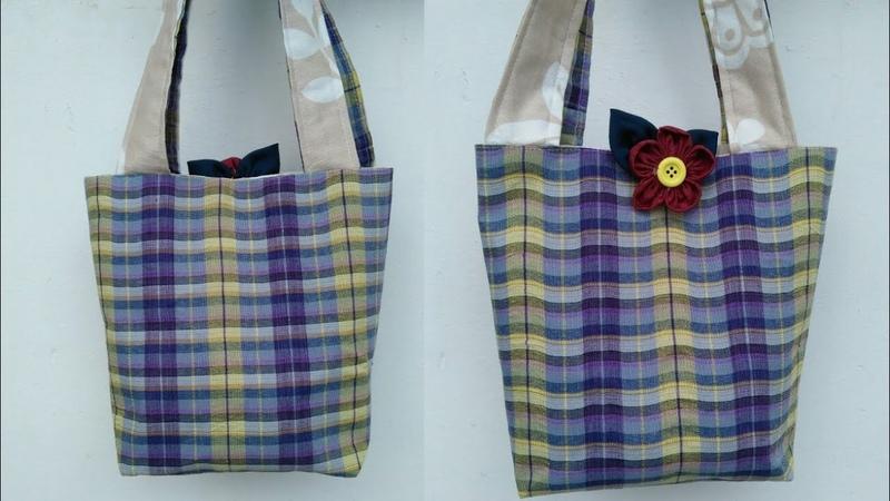 DIY Loincloth bag tutorial form scratch reduce global warming คลิปสั้น รัชนี งานผ้า handmade