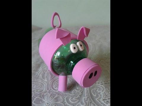 Cofrinho de Porquinho de garrafa Pet Passo a Passo!