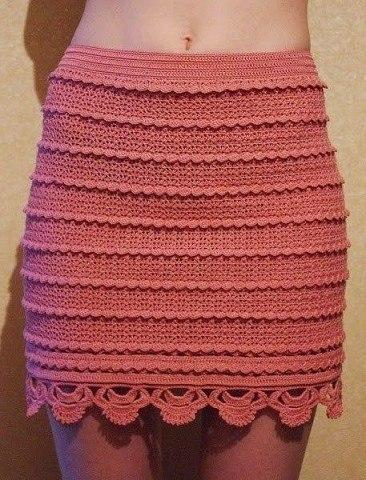 Знаменитая юбка крючком (8 фото) - картинка