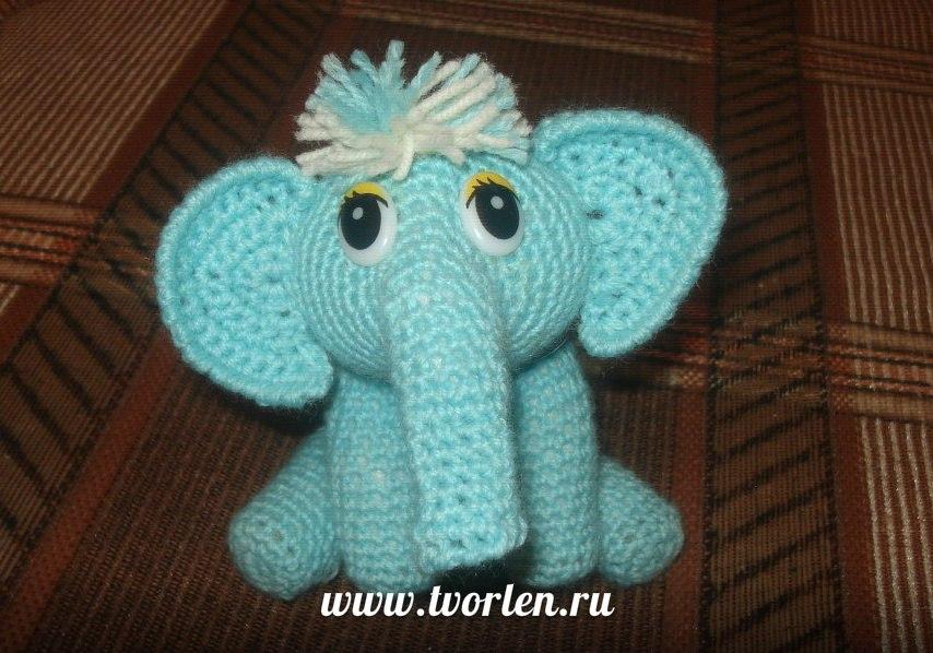 слон крючком