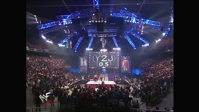 Dudley Boyz and Chris Jericho Vs Edge Christian and Kurt Angle - 6-Man Tag Team Table Match - RAW 01.01.2001