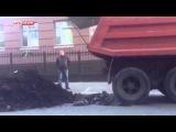 У редакции украинского телеканала «1 1» высыпали навозную кучу  Украина