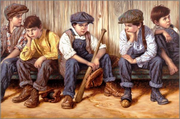 Джим Дэйли — сентиментальный художник из США. Лучший период его творчества относится к периоду, когда его жена была молода, а дети малы — именно они были источниками его творческого