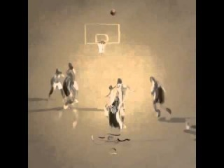 Manu Ginobili's clutch 4th quarter three made into art. Animation by Richard Swarbrick, and music b