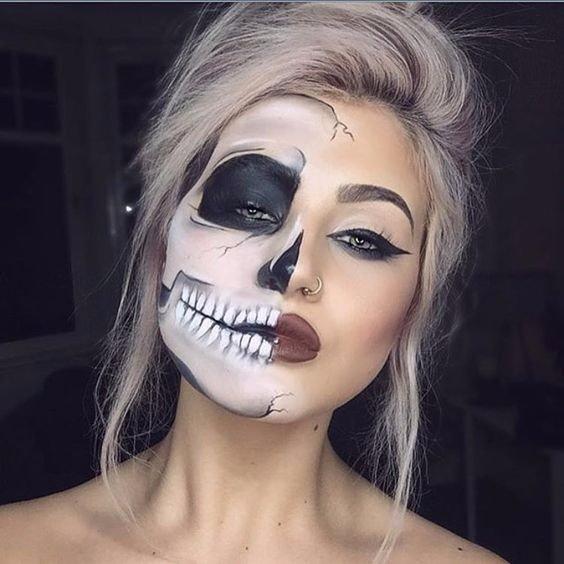 Классные макияжи на хэллоуин