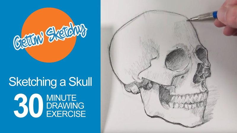 Sketching a Skull Gettin' Sketchy Live