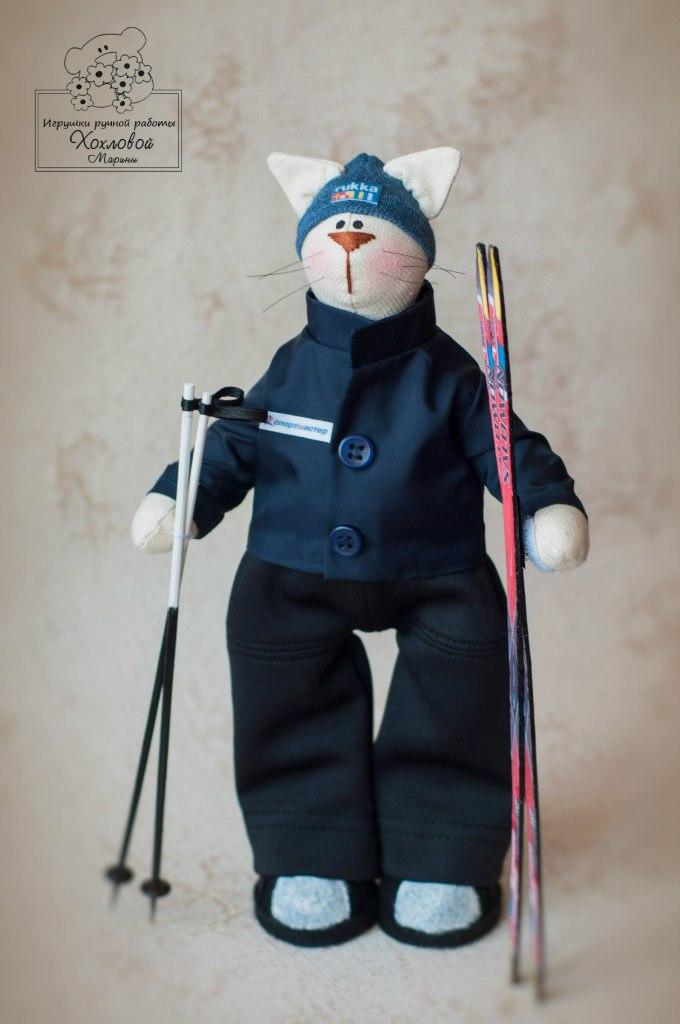 тильда лыжник