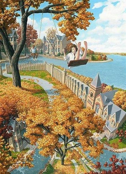"""""""Оптическая иллюзия"""" иллюстрации от Rob Gonsalves"""