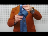 Как завязать галстук  за 10 секунд.