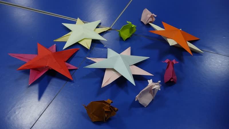Клуб оригами 折り紙のクラブ (рождественская звезда クリスマス星)