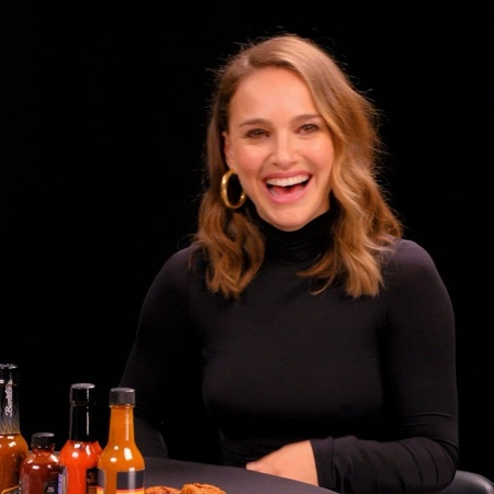 """Natalie Portman on Instagram: """"To see me being brave, check out HotOnes on @firstwefeast where I tried vegan wings in hot sauce followed by LOTS o..."""