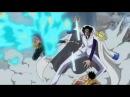 Marco kicks Aokiji to save Rufy HD SUB