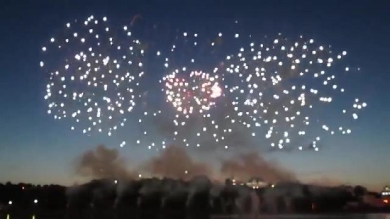 Международный Фестиваль фейерверков в г. Чебоксары. 23 июня 2018 года.