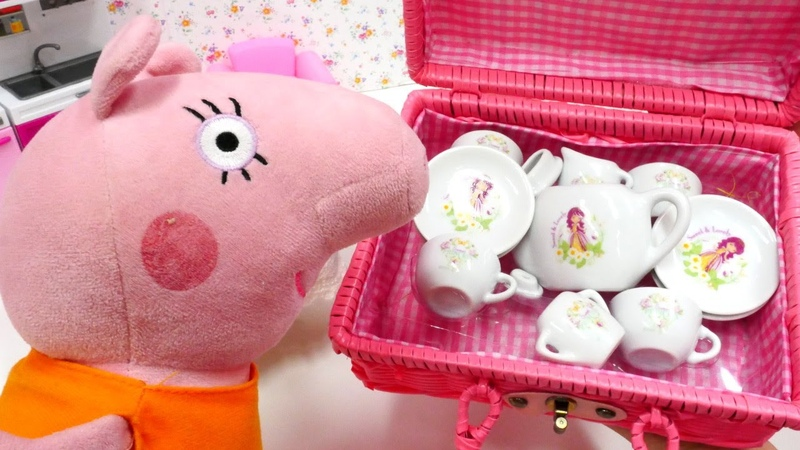 Peppa Pig auf Deutsch - Mama Wutz bekommt Besuch - Spielzeugvideo für Kinder
