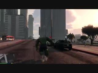 GTA 5 моды - Халк против самолёта