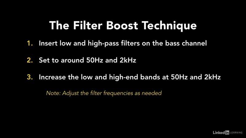 104 - The filter boost technique