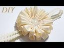 Como Hacer Lazos 🎀 DIY 87 Flor en Cinta Gros Tutorial