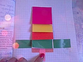 Как сделать фонтанчик из бумаги для личного дневника