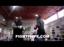 ADRIEN BRONER SHOWS OFF HIS SPEED AND COMBINATIONS AS HE PREPARES FOR CARLOS MOLINA