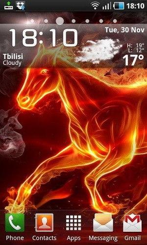 Живые обои Fired Horse