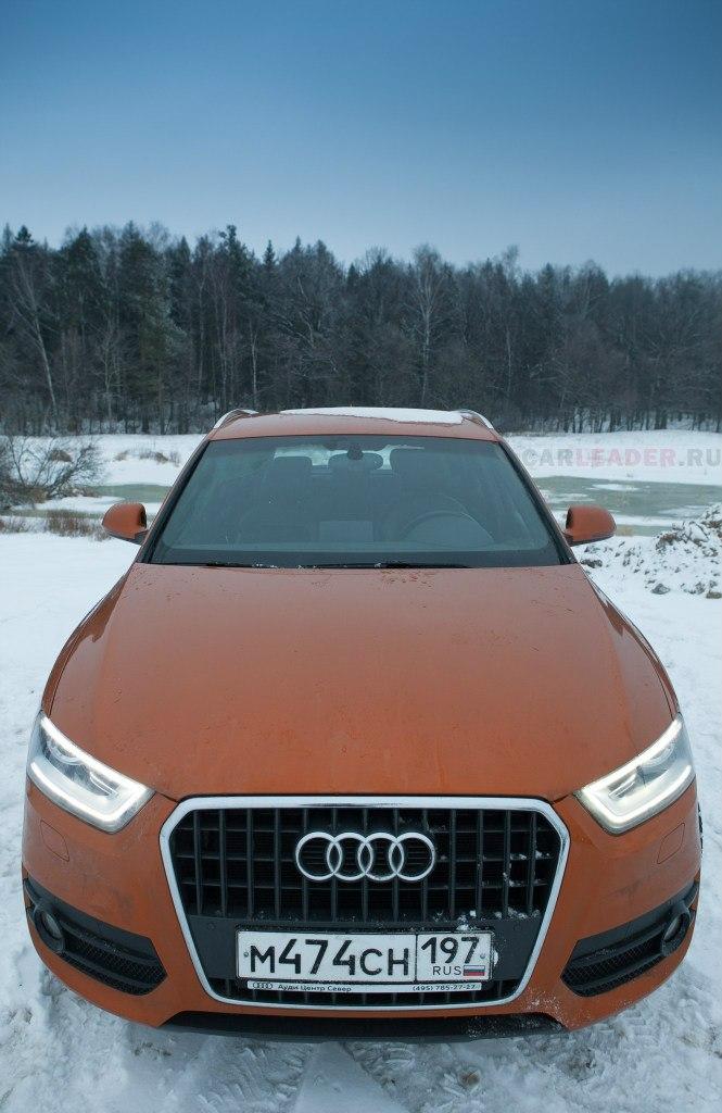 Оранжевая Audi Q3