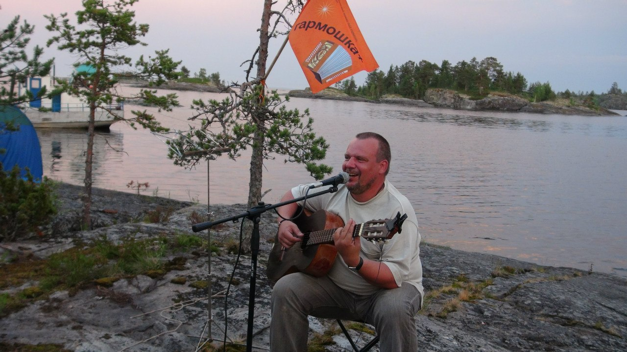 velo-oncert White Night on Ladoga lake