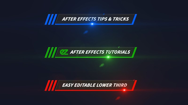 How To Create A Color Line Lower Third, After Effects Tutorial Template