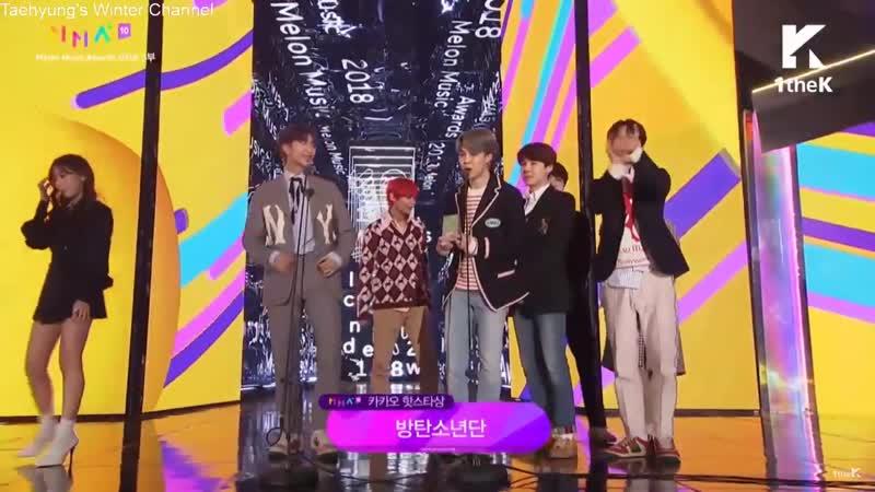 BTS Kakao Hot Star Melon Music Awards MMA 2018