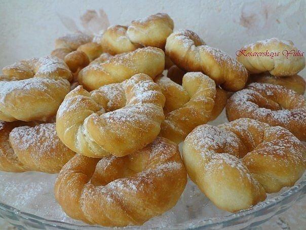Пончики яйцо -1 шт. сахарный песок -