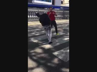 Nigger gets knocked out dance