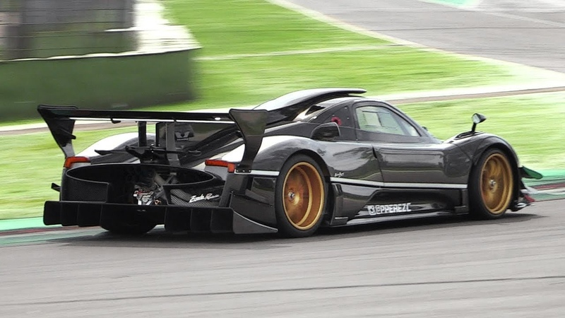 Pagani Zonda Revolución Screaming at Imola Circuit - AMG 6.0 V12 Engine Pure Sound!