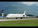 THE MOST INSANE LATE TAKE-OFF! Aviatrans K MD-83 UR-CEL at Tivat airport! 1080p HD