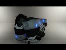 Кроссовки Fashion черные с роликом со светящейся подошвой
