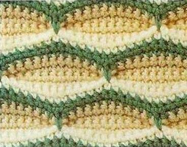 Узоры в вашу копилку. Трехцветный плотный узор для жакета, пледа…. (2 фото) - картинка