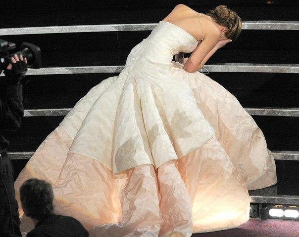 Дженнифер Лоуренс в платье Christian Dior на 85-ой церемонии вручения премии «Ос...