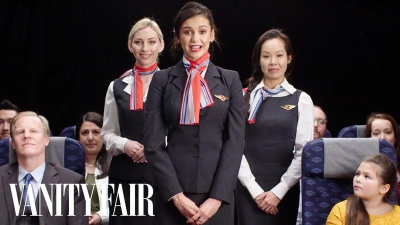 Nina Dobrev creates an In Flight Safety Video Vanity Fair