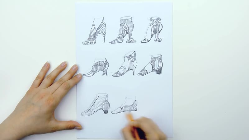 Designing shoes inspired by lines and dots