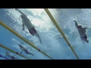 Rio 2016 4 x 100 freestyle relay - underwater camera