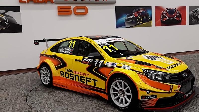 350 сильная LADA Vesta TCR 1 8 Renault M5P обновленный гоночный болид для РСКГ