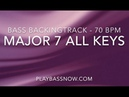 Bass backing track - Major7 in all keys, circle of fifths