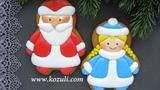 Новогодние имбирные пряники Дед Мороз и Снегурочка. Роспись пряников глазурью (айсингом)