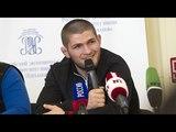 Хабиб ответил на вопросы о своем следующем сопернике,выступлении в Москве и многом другом.