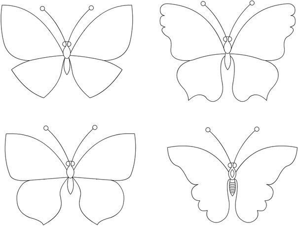 Шаблон из бабочек своими руками