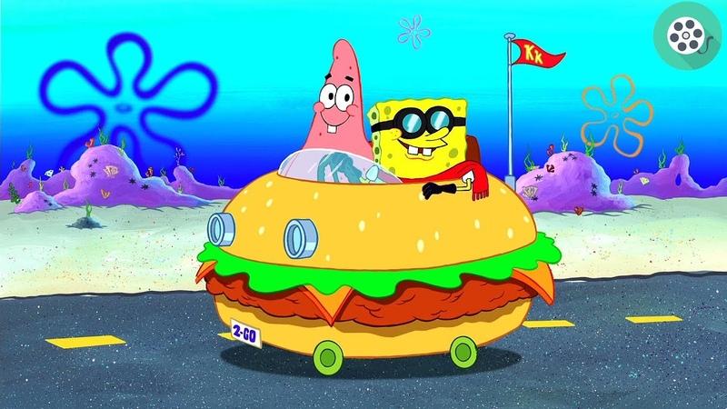 Спанч Боб и Патрик отправляются с важным заданием в Шелл Сити Губка Боб квадратные штаны 2004