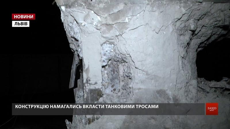 Перша спроба знесення стелу Монумента слави у Львові завершилась невдачею