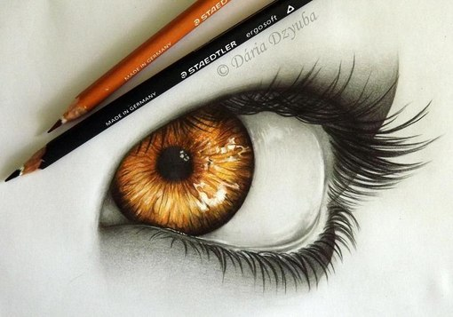 Нарисованные глаза на веках фото - 1d62