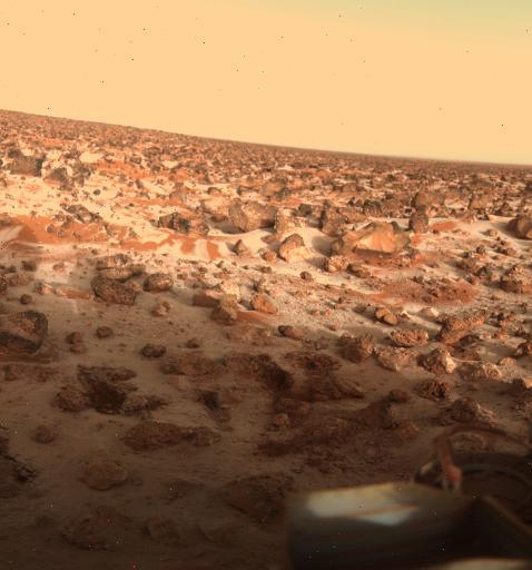 Заснеженная пустыня на Марсе (Викинг-2)