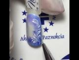Нежный зимний дизайн с голубым переливом