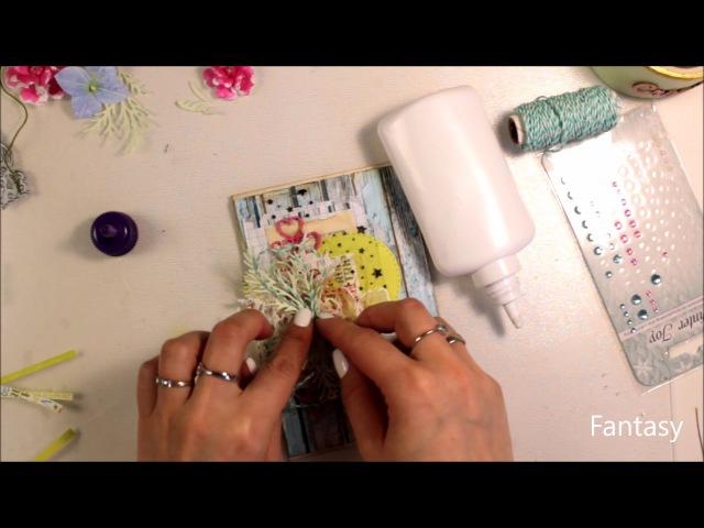 Мастер класс открытка с дощечками в американском стиле