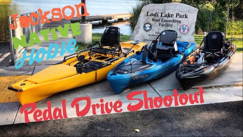Pedal Drive Shootout Native Titan VS Hobie PA VS Jackson Coosa FD